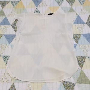 Dynamite Sheer White Camisole, Sz Small